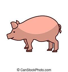 pork meat butchery icon vector illustration design