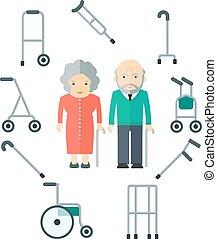 elder people and walkers