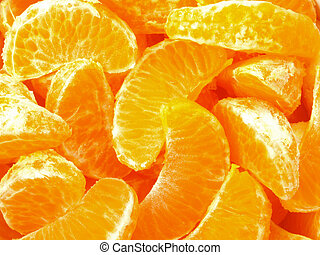 tangerine slices      - tangerine slices