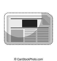 newspaper daily isolated icon