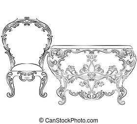 Fabulous Rich Rococo Furniture set. French Luxury rich...