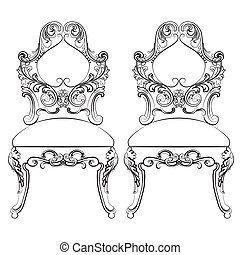 Chairs furniture Classic Set