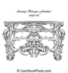 Imperial Baroque Classic commode table furniture with Royal...