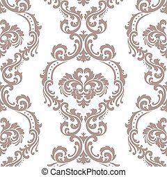 Vintage Floral ornament damask pattern - Vintage Vector...