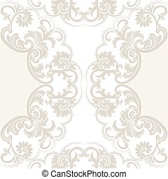 Lace Card with crochet floral ornament - Vector Lace Card...