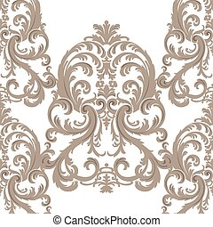 Royal floral damask baroque ornament pattern - Vector Royal...