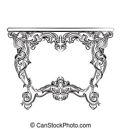 Royal Baroque Vector Classic table furniture with Ornate...