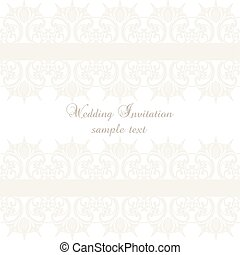 Vector lace crochet card background