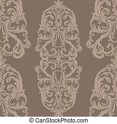 Baroque Floral Damask ornament pattern - Vector Royal floral...