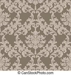 Baroque Vintage floral damask pattern - Vector Baroque...
