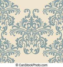 Vintage Rococo Floral ornament pattern - Vintage Vector...