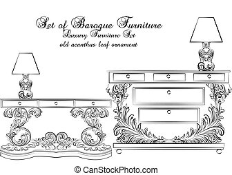 Royal Baroque Vector Classic furniture table