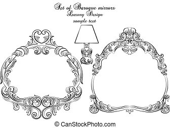 Vintage set of Baroque Royal frames