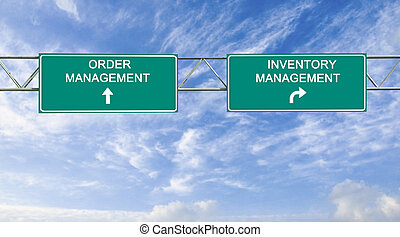 Road sign to order and inventory management