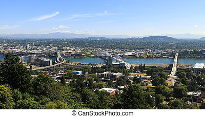 City of Portland - View of South Waterfront and East...