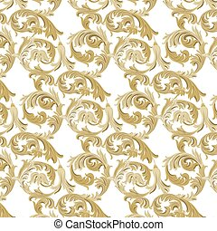 Luxury Damask Pattern - Vector Luxury Damask Pattern....