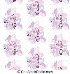 Orchid flowers pattern