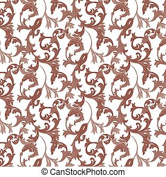 Damask pattern ornament - Vector damask pattern ornament....