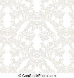 Vintage Baroque floral Damask pattern Vector. Luxury classic...