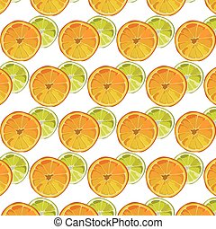 Orange and Lime fresh slices