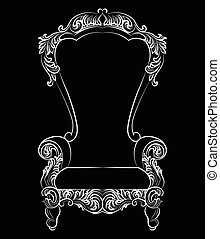 Fabulous Rich Baroque Rococo Armchair. French Luxury rich...
