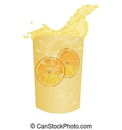 Summer cocktail fresh drink isolated