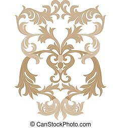 Damask pattern ornament - Vector damask ornament. Exquisite...