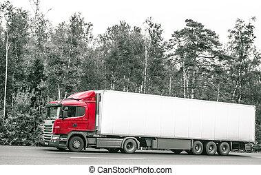 linehaul truck, motion