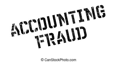 Accounting Fraud rubber stamp. Grunge design with dust...