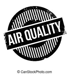 Air Quality rubber stamp. Grunge design with dust scratches....