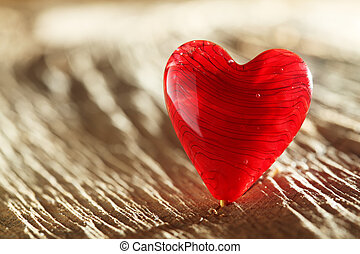 Bright red heart background