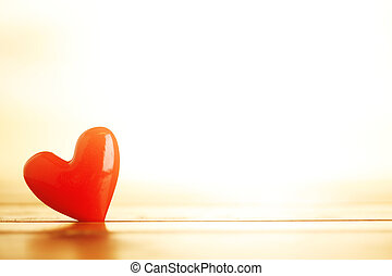 Shiny red hearts