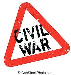 Civil War rubber stamp. Grunge design with dust scratches....