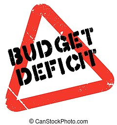 Budget Deficit rubber stamp. Grunge design with dust...