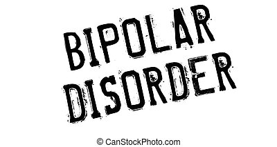 Bipolar Disorder rubber stamp. Grunge design with dust...