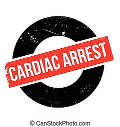 Cardiac Arrest rubber stamp. Grunge design with dust...