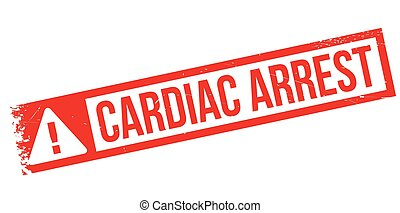Cardiac Arrest rubber stamp. Grunge design with dust...