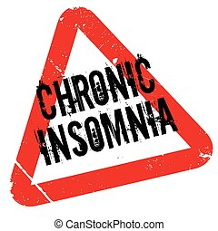 Chronic Insomnia rubber stamp. Grunge design with dust...