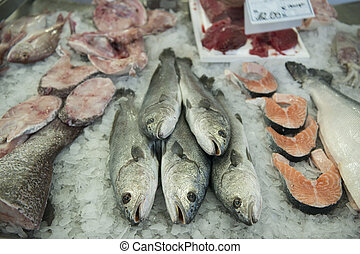 EUROPE PORTUGAL ALGARVE OLHAO MARKET - the fish Market in...