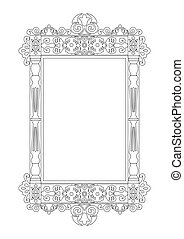 Baroque Rococo frame decor. Vector French Luxury rich carved...