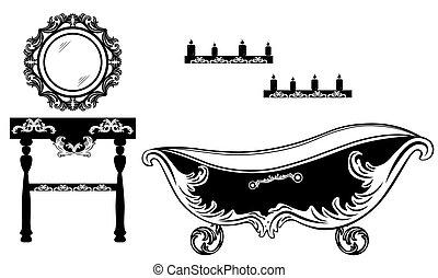 Rich Baroque Rococo bathroom set