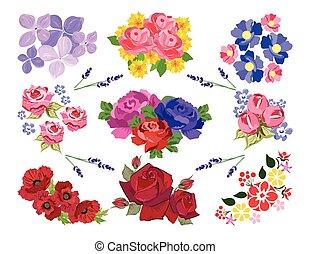 Spring Summer floral set