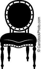 Modern Neoclassic chair. Vector furniture sketch