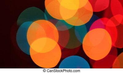 Defocused ligths of Christmas tree Christmas Bokeh background