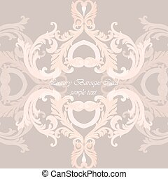 Vintage Invitation Card or banner with Luxurious Baroque...