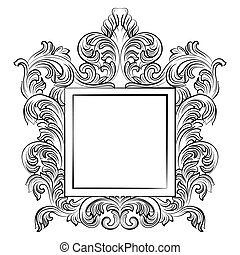 Vintage Imperial Baroque Rococo frame. Vector French Luxury...