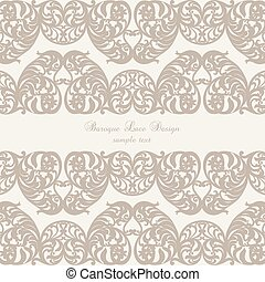 Vintage Invitation Card with Luxurious Baroque ornament....