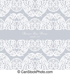 Vintage Invitation Card with Luxurious lace Baroque...