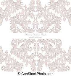 Vintage Baroque ornament card