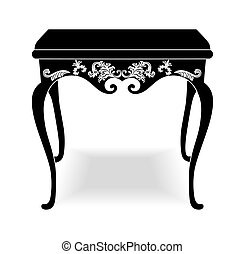 Rich Baroque coffee Table. French Luxury rich carved...